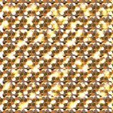Gold glitter. Seamless pattern.. Celebratory background. Round elements gold shades. Glow effect. New Year, Christmas, wedding, bi. Gold glitter. Seamless royalty free illustration