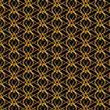 Gold glitter seamless pattern over a black background Stock Image