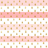 Gold Glitter Seamless Pattern, Striped Background Royalty Free Stock Photography