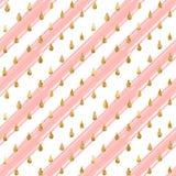 Gold glitter seamless pattern, striped background Stock Image