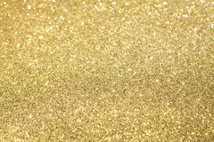 Gold Glitter Selective Focus Royalty Free Stock Photos