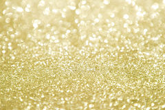 Gold glitter with selective focus stock photo