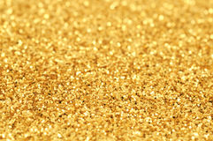 Gold Glitter Stock Photography