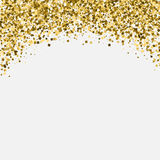 Gold glitter shimmery heading. Invitation card or Royalty Free Stock Photo