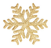 Gold glitter snowflake Royalty Free Stock Photos