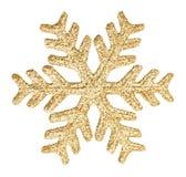 Gold glitter snowflake Royalty Free Stock Photos