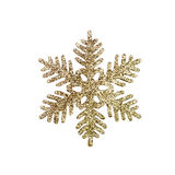 Gold Glitter Snowflake background Stock Photos