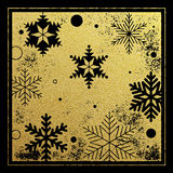 Gold glitter snowflakes background pattern for Christmas card Royalty Free Stock Image