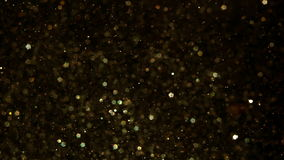 Gold glitter sparkles stock video