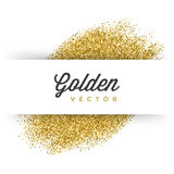 Gold Glitter Sparkles Bright Confetti Black Vector Background Stock Images