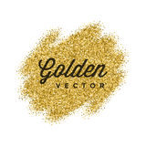 Gold Glitter Sparkles Bright Confetti Vector Background. Royalty Free Stock Image