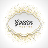Gold Glitter Sparkles Bright Confetti White Paper Stock Photo