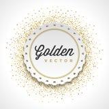 Gold Glitter Sparkles Bright Confetti White Paper Stock Images