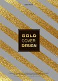 Gold, Glitter, Sparkles Design Template for Brochures, Invitation for New Year, wedding, birthday. Patina golden elements. Vector. Gold, Glitter, Sparkles Design Royalty Free Stock Images