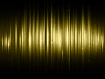 Gold glitter sparkling effect of golden vibes with shimmering light blur. S. Luxury sparkle threads of curtain backdrop for fashion cosmetic design or premium stock illustration