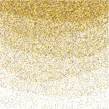 Gold glitter sparkling pattern. Decorative shimmer background. Shiny glam abstract texture. Sparkle golden confetti backdrop. Luxu Royalty Free Stock Photo