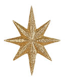 Gold glitter star Stock Image