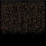 Gold glitter star dust background. Stock Photos