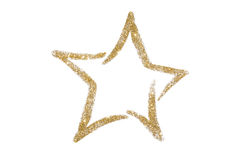Gold glitter star. Sequins. Golden shine. Powder. Glitter. Shining symbol. Gold glitter star Sequins. Golden shine. Powder. Glitter. Shining symbol Stock Images