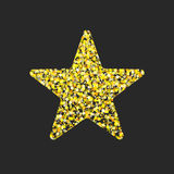 Gold glitter star. Royalty Free Stock Image
