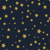 Gold glitter stars in the sky Stock Photo