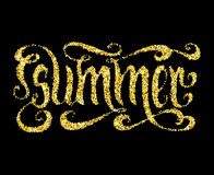 Gold glitter Summer Royalty Free Stock Images