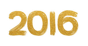 Gold glitter text 2106. On white background royalty free stock photography