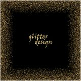 Gold glitter texture on a black background. Golden explosion of confetti. Golden grainy abstract texture on a black. Background. Design element. Vector Royalty Free Stock Photos