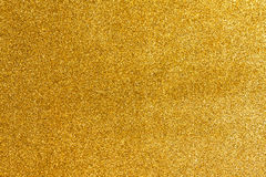 Gold glitter texture Stock Photography