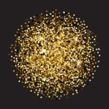 Gold glitter texture. Golden sparcle background. Amber particles. Luxory backdrop. Stock Photography