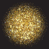 Gold glitter texture. Golden sparcle background. Amber particles. Luxory backdrop. Stock Photos