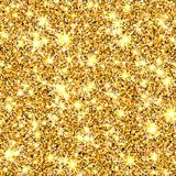 Gold glitter texture. Golden sparcle background. Luxory backdrop. Amber particles. Fashion gleam pattern for design. Party invitation, card, poster, banner, web Royalty Free Stock Photography