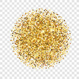 Gold glitter texture. Golden sparcle on transparent background. Amber particles. Luxory backdrop. Royalty Free Stock Photo