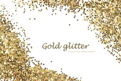 Gold glitter texture isolated. Abstract background. Stock Images