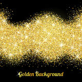 Gold glitter texture with sparkles Stock Photos