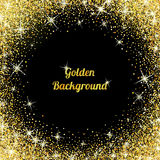 Gold glitter texture with sparkles stock illustration