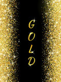 Gold glitter texture with sparkles Royalty Free Stock Images