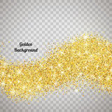 Gold glitter texture with sparkles Royalty Free Stock Image