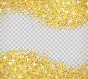 Gold glitter texture with sparkles Stock Photography