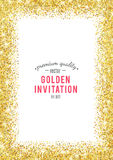 Gold glitter texture with sparkles royalty free illustration