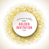 Gold glitter texture with sparkles Stock Images