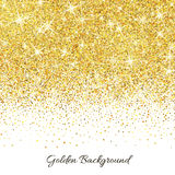Gold glitter texture with sparkles Stock Image