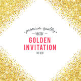 Gold glitter texture with sparkles Royalty Free Stock Photos