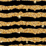 Gold glitter texture with strips Stock Photos
