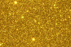 Gold glitter texture surface Royalty Free Stock Photography