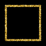 Gold glitter texture vector. Stock Photography