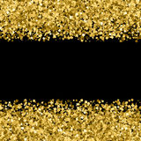 Gold glitter texture vector. Royalty Free Stock Images