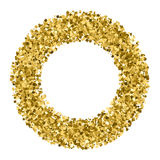 Gold glitter texture vector. Royalty Free Stock Photos