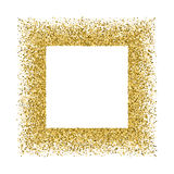 Gold glitter texture vector. Stock Images
