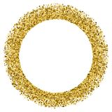 Gold glitter texture vector. Gold frame glitter texture isolated on white. Golden color of winners. Gilded abstract particles. Explosion of confetti shine Royalty Free Stock Photos